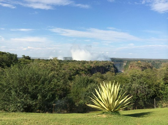 The Victoria Falls Hotel: This is actually a view from the back terrace of the hotel.