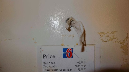 Willcox Inn: peep hole with kleenex