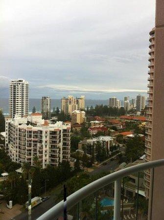 Crowne Plaza Surfers Paradise: view south towards coolangatta