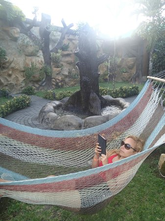 Arenal Hostel Resort: Nothing better than a book on a hammock.
