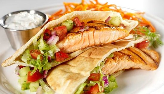Kebab Tandoor Grill: Stuffed salmon.