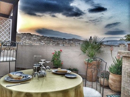 Riad Andalib: Dinner on the rooftop Terrace