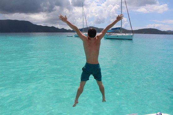 Tropic Power Boat Rentals: FUN just jumping off the boat and swimming