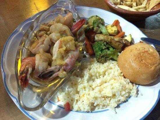 Abuelos: Tequila shrimp