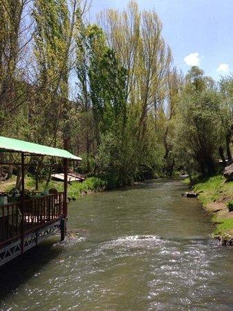 Ihlara Valley: view from the restaurant at belisirma