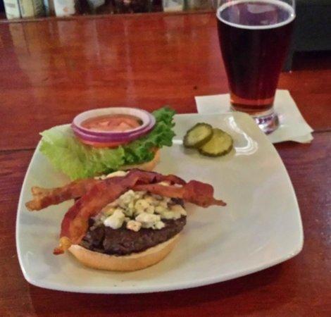 Blue cheese bacon burger!