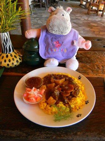 Hoedspruit Endangered Species Centre: My lunch.  Good food.