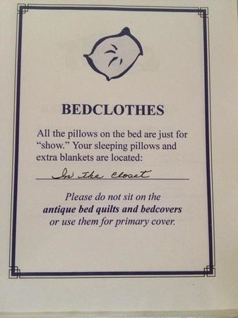 Bay Breeze Bed & Breakfast: from the Rule Book
