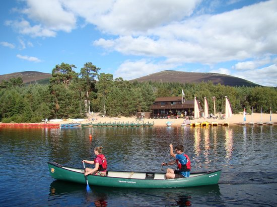 Aviemore, UK: a beach in the mountains