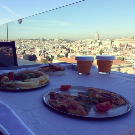 Witt Istanbul Suites: Breakfast with view
