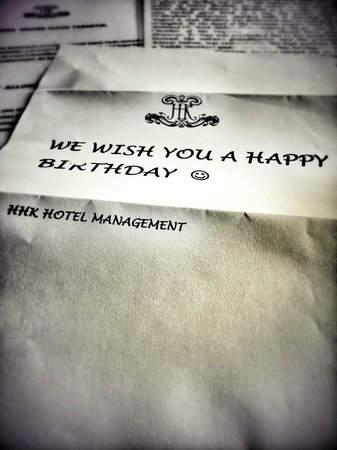 Hayriye Hanim Konagi Hotel: happy bday note