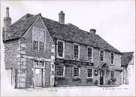 The Carpenters Arms: Line drawing