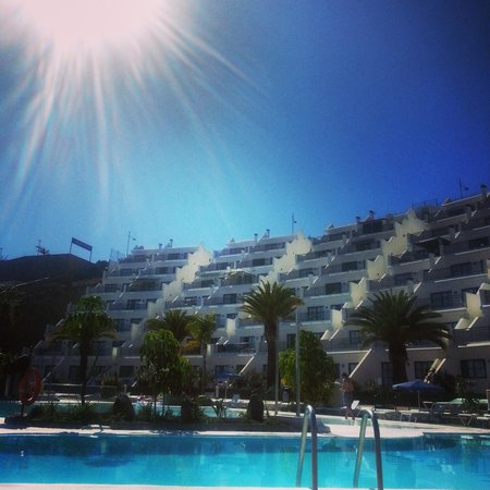 Babalu Apartments: view from my sunbed