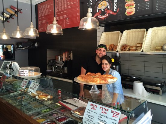 Bagel Story: Owner and friend- great bagels here