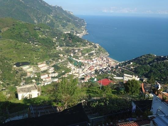 Ravello Rooms: View from the deck of the apartment