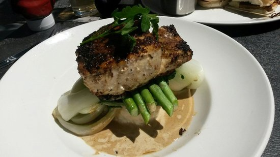 Yard House - Town Square : Halibut. Old potatoes, great fish