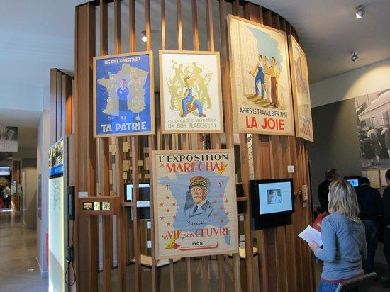 Centre d'histoire de la Résistance et de la Déportation : inside the museum