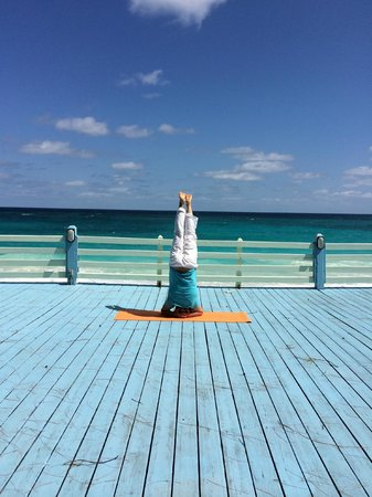 Sivananda Ashram Yoga Retreat: on the yoga deck
