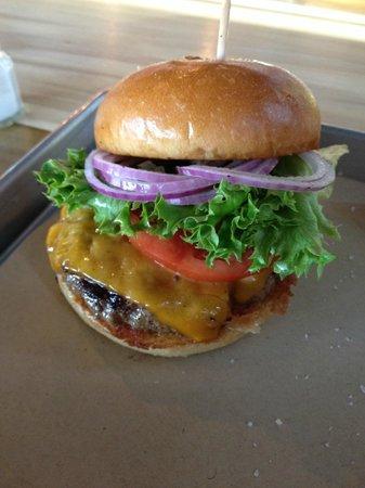 Chop House Burger, Cheddar Cheese, NO Truffle Oil Sauce