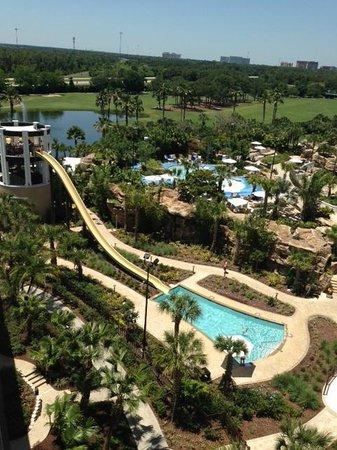 Orlando World Center Marriott: Awesome slide!