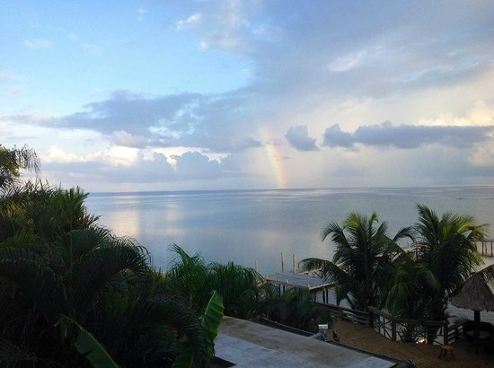 Tranquilseas Eco Lodge and Dive Center : Sipping morning coffee on our private verandah.