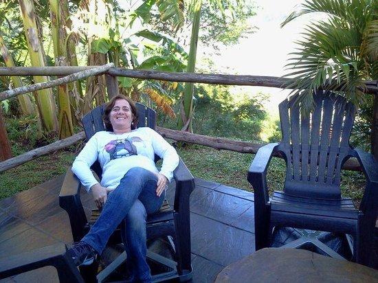 Costa del Sol Iguazu: Deck con parrilla frente al rio