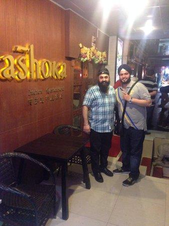 Ashoka India restaurant: With hotel owner .