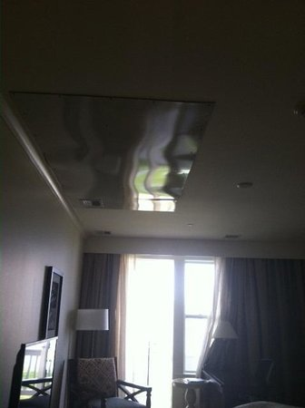 Kingsmill Resort: Metal Sheeting installed in bedroom ceiling after leak
