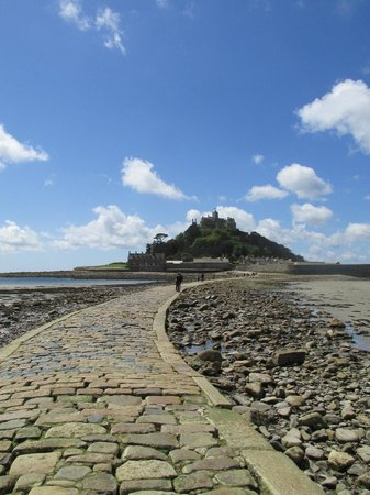 Warwick House: The causeway from Marazion to St Michaels Mount (wear flat shoes!)