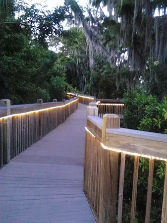 Blue Heron Beach Resort: Boardwalk near Lake Bryan, peaceful, romantic, beautiful!