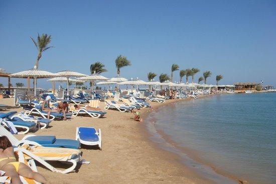 Hilton Hurghada Resort: Пляж отеля