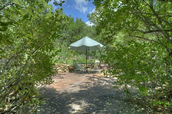 The front Patio at Blue Lake Ranch