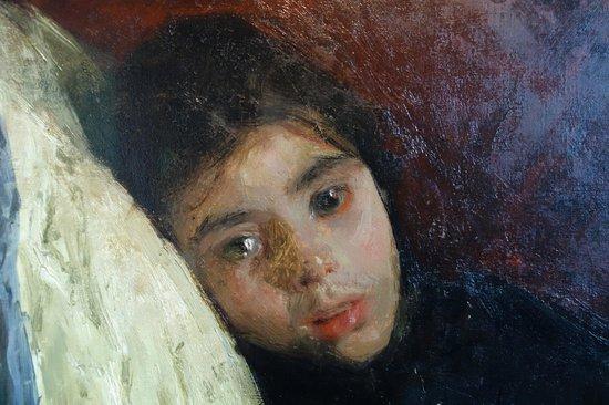 De Mesdag Collection : A. Mancini: The Sick Child, Detail