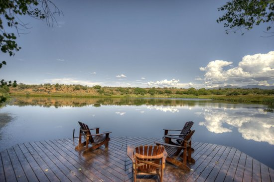 Blue Lake Ranch: The Deck perfect for casting a few lines or a great book and a glass of wine