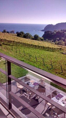 Hotel San Prudentzio: Vistas espectaculares.