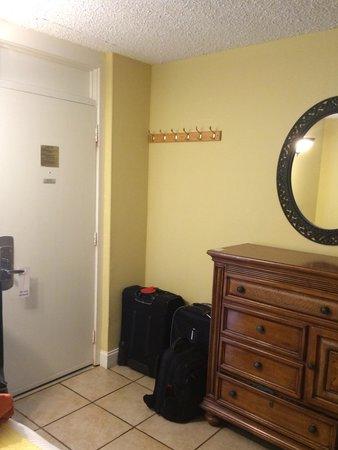 Aqua Beach Resort : room door (view from the bed)