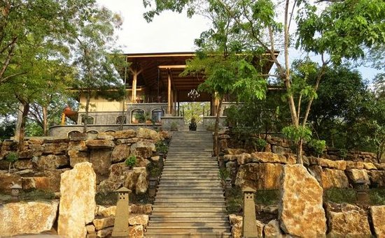 "The Bodhi Tree Yoga Resort : The main building, Ananda Kutir (""House of Bliss"") welcomes you!"