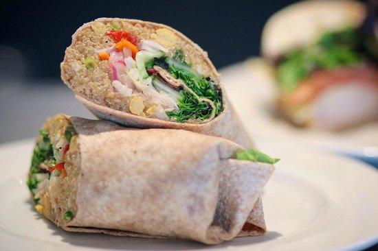 Relish: Quinoa chickpea wrap