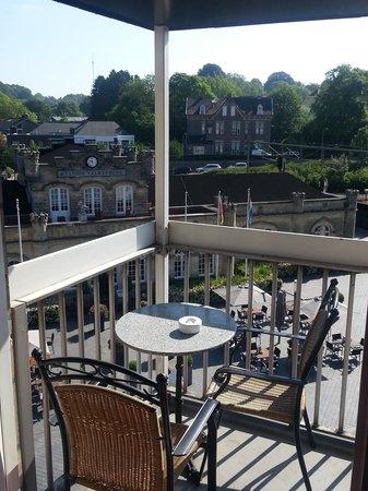 Hotel Tummers: Het balkon van de toren-suite.