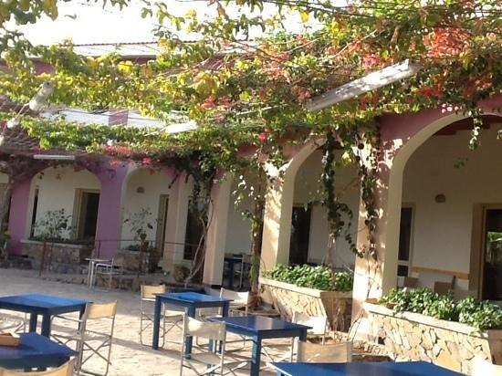Santantao Art Resort : terrasse bougainvilliers
