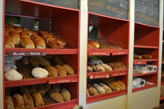 Wakefield Bakery: Bread Shelves