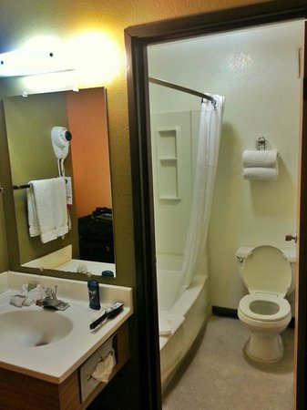 Super 8 Las Vegas Strip Area at Ellis Island Casino: Bathroom.