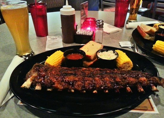 Super 8 Las Vegas Strip Area at Ellis Island Casino: Full rack of ribs at Ellis Island
