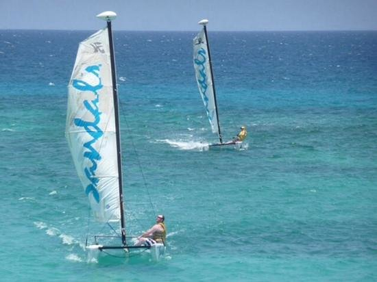 Sandals Ochi Beach Resort: Our two nephews enjoying a sail!