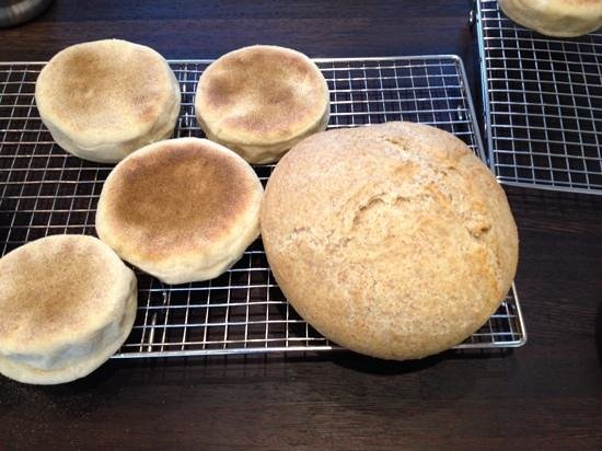 Northcote Cookery School: English muffins and Coburg loaf