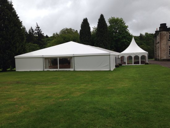 Melville Castle Hotel : The marquee