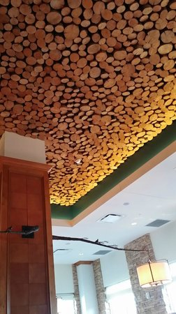 Renaissance Boulder Flatiron Hotel : The ceiling in the Flatz restaurant