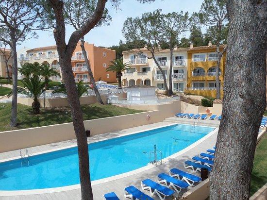 IBEROSTAR Club Cala Barca: Blick vom Balkon des Zimmers 4672 (Gebäude 46 Etage 3)