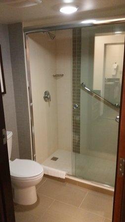 Hyatt Place Fort Worth Cityview : Walk in shower