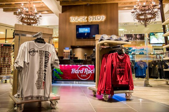About: The Hard Rock Store sells a wide range of clothing and can accommodate for larger sizes as well as some of the more petite sizes. Also on sale are gifts and memorabilia from rock stars such as Jimi Hendrix, Jim Morrison, The Beatles and the Rolling Stones to name but a few and the downstairs area of this branch is dedicated purely to the history of Rock'n' Roll.